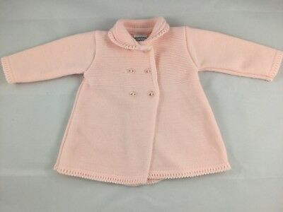 Spanish Style Baby Girls Pink Knitted Coat By Pex