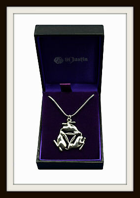 Pewter Celtic Triple Hare Pendant Necklace ~ Love & Fertility ~ From St. Justin