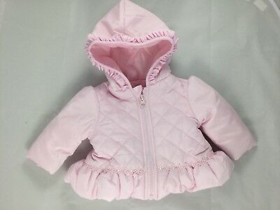 Baby Girls Spanish Style Pink Quilted Jacket Winter Coat AW18 By Mintini