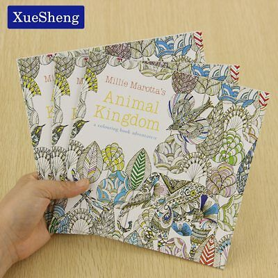 XUES® 24Page/Set Animal Kingdom English Edition Coloring Book For Children Adult