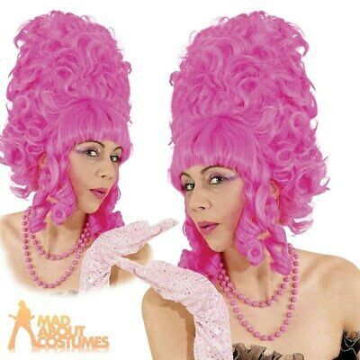 Adult Ugly Sisters Wig Pompadour Beehive Pantomime Fancy Dress Outfit Accessory
