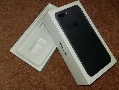 Apple iPhone 7 Plus Black Empty Box ONLY 32GB No Phone And No Accessories