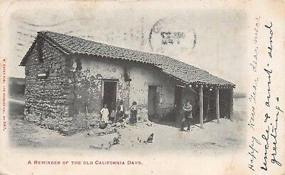 Reminder of the Old California Days Stone Shack House 1905
