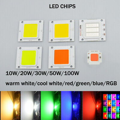 10X 1X 10W 20W 30W 50W 100W SMD LED Chips RGB UV High Power Bead COB DIY Bulb