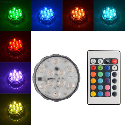 21F8 10 LED Multi Color Submersible Waterproof Party Vase Base Light Remote Cont