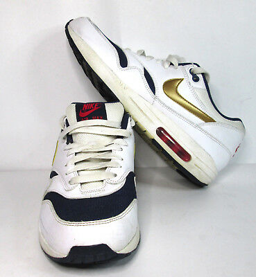 Details about Nike Air Max 1 Essential USA Olympic Size 11.5 537383 127 White Blue Red 95 97