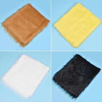 12cm Long Haired Plush Faux Fur Fabric High Quality DIY Pillow Toy Sewing Craft