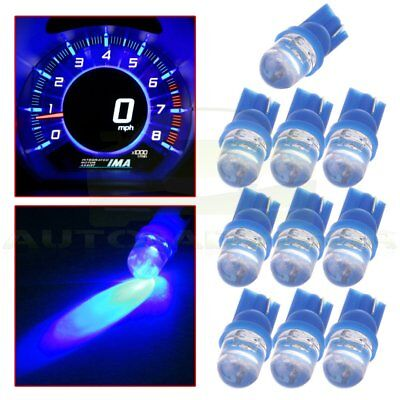10 X Blue T10 W5W 158 168 501 Wedge LED Bulbs For Car Lcense Plate Light Lamp