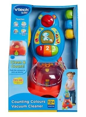 VTech Counting Colours Kids Hoover Musical Vacuum Cleaner - Brand New & Boxed