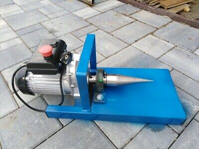 Wood Log splitter type screw with electric motor with gearbox 2kW 230V 80 rpm