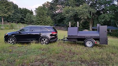 Mobile BBQ Smoker 36 Grill Trailer Catering Food Truck Concession Business Cart