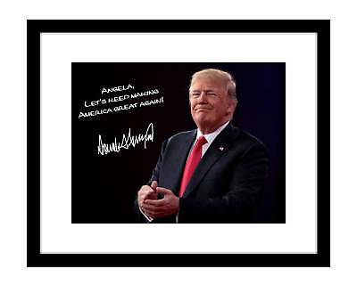 Donald Trump 8x10 Signed Photo Personalized YOUR NAME Picture Poster Autographed