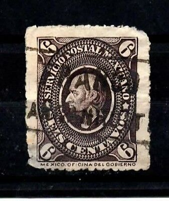 Mexico Stamps-Scott # 170/A17-6c-Canc/LH-1885-NG