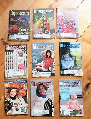 Workbasket Magazine Lot of 9 Mixed Years 1988-1993