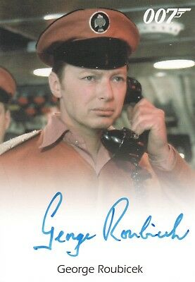 James Bond Archives 2017 - George Roubicek 'Stromberg Captain' Autograph Card