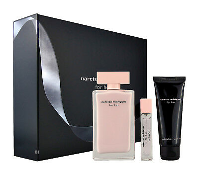 Narciso Rodriguez for her 100ml Eau de Parfum & 10ml Eau de Parfum & 75ml BL