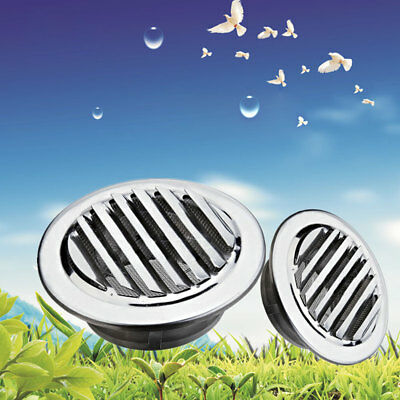Metal Circle Air Vent Grille Round Ducting Ventilation Cover Ceiling Wall 8/12CM