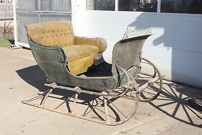 Horse Drawn Sleigh Carriage Wagon Buggy Antique Cart