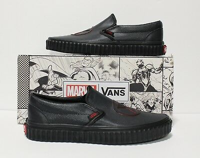 342ce6a73999b6 VANS X MARVEL Classic Slip On Black Widow Black Black Women s Size ...