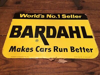 Bardhahl 2- sided Metal Sign