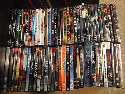 Lot of over 65 DVD Movies Action Suspense Drama Movies Good Used Condition