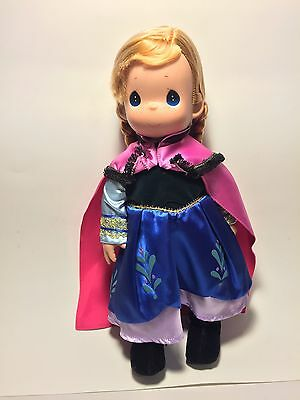 """Disney Park Precious Moments Anna Doll 16"""" Signed NEW Retired Collectible"""
