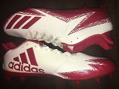 detailed look ad057 667a5 ADIDAS FREAK X CARBON LOW White Red MENS Football Cleats BY3098 NEW SHOES  SZ 14