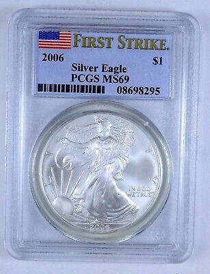 2006 American Silver Eagle  First Strike S1 DOLLAR PCGS MS 69