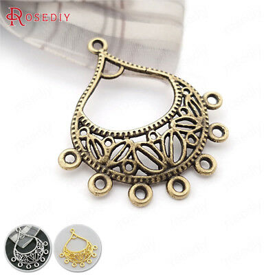 20PCS 34*30MM Zinc Alloy Earring Connector Charms Jewelry Findings Accessories