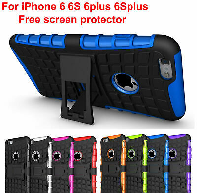 Case Cover For iPhone 6 plus 6S Plus Shock Proof PC Rubber Armor Hybrid Stand