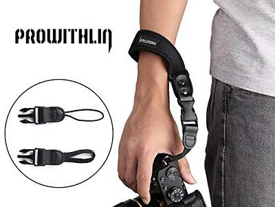 Prowithlin Universal Neoprene Camera Wrist Strap Hand Strap with 2 Quick Release