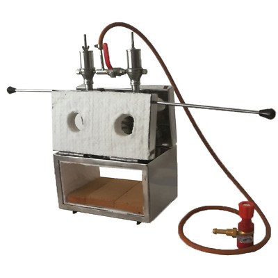 """Double Burner Front&Side Door 5.2"""" Height Gas Propane Forge Knifemaking Farriers"""