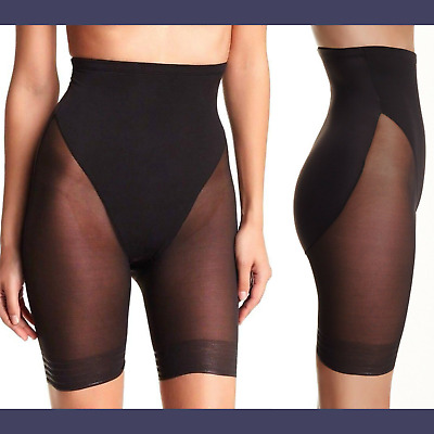 69cd1691233d7 NWT TC Fine Shapewear High Waist Sheer Thigh Slimmer Black  SZ Large   C451