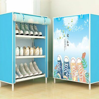 Shoes Cabinet Simple Shoe Rack With Cover Multifunctional Shoes Storage Z0