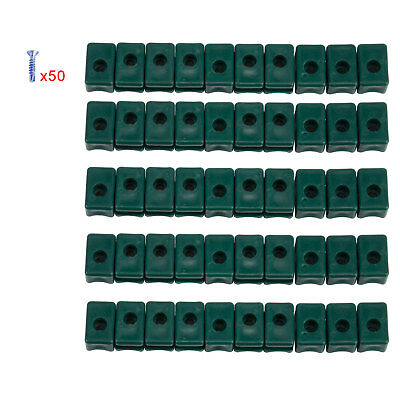 Garden Tensioning Wire Holder with Screws Plastic Pack of 100