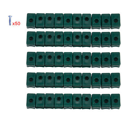 Garden Tensioning Wire Holder with Screws Plastic Pack of 50