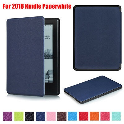 Ultra Slim Smart PU Leather Cover Case For 2018 New Amazon Kindle Paperwhite 4