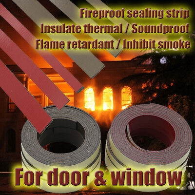 Self Adhesive Fireproof Intumescent Sealing Strip Fire Safes Draught Protection