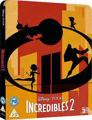 Incredibles 2 - 3D and 2D Blu-ray SteelBook LIMITED EDITION !!