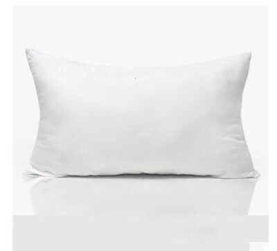 (8) - Rectangle Solid Cushion Inner Cotton Linen Throw Pillow covers Case