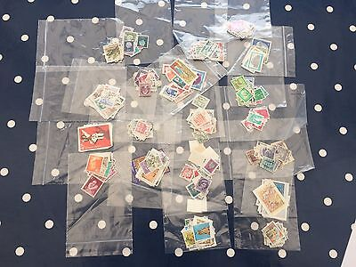 500 diff all different stamps of the world from 25 + different countries
