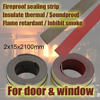 15mm Self Adhesive Intumescent Fireproof Door Frame Seal Fire Safe Weather Strip