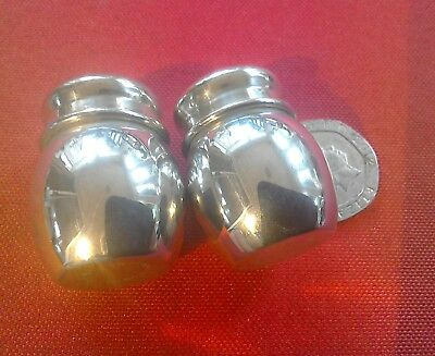 "Lovely little vintage silver plate travel cruet set , only 1.25""(3.5cms) tall"
