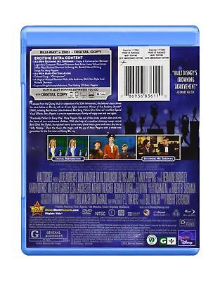 Mary Poppins: 50th Anniversary Edition (Blu-ray + DVD + Digital... Free Shipping