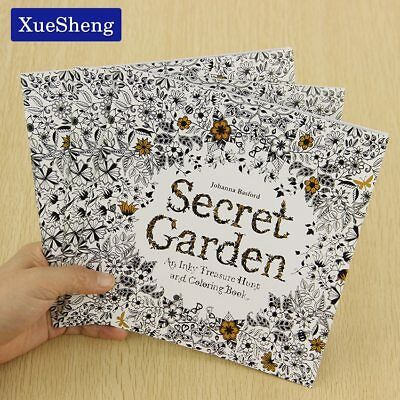XUES® 24Pages Secret Garden English Edition Coloring Book For Children Adult