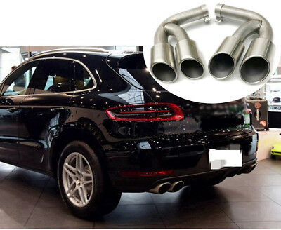 Stainless Steel Black Exhaust Tips Muffler Tail Ends For Porsche Cayenne 2015-17