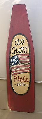 Antique Americana Painted Ironing Board Flag Folk Art Wall Hanging Tavern Decor