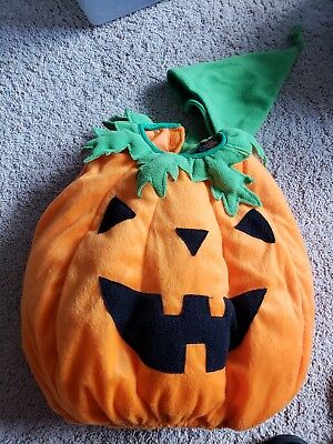 Pumpkin Baby Costume 2 Pieces Size 12 months Infant Toddler Halloween
