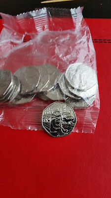 Paddington Bear Station 50p Fifty Pence coin 2018   Uncirculated Free Postage