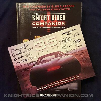 The Knight Rider Companion KITT David Hasselhoff Television 80s Book + BONUS!!!